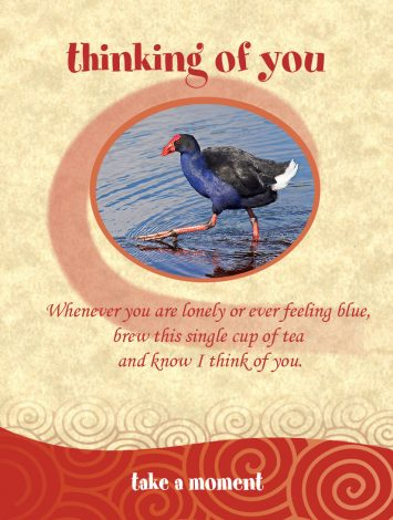 Chatabox Friendship Teabags bloomsoncameron thinking of you pukeko