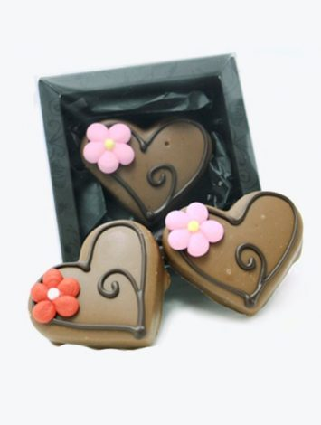 Mothers day chocolate brown vintage hearts